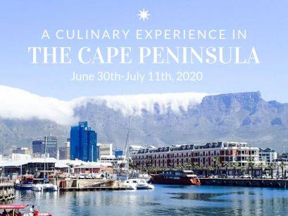 A culinary experience in the cape peninsula Africa - June 30-Jul 11, 2020